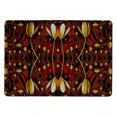 Fantasy Flowers And Leather In A World Of Harmony Samsung Galaxy Tab 10.1  P7500 Flip Case