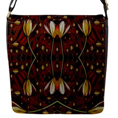 Fantasy Flowers And Leather In A World Of Harmony Flap Messenger Bag (s)