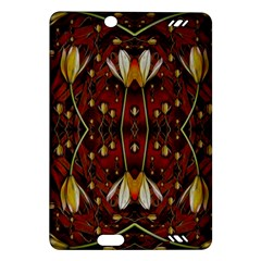 Fantasy Flowers And Leather In A World Of Harmony Amazon Kindle Fire HD (2013) Hardshell Case