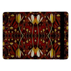 Fantasy Flowers And Leather In A World Of Harmony Samsung Galaxy Tab Pro 12.2  Flip Case