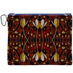Fantasy Flowers And Leather In A World Of Harmony Canvas Cosmetic Bag (XXXL)