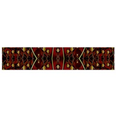 Fantasy Flowers And Leather In A World Of Harmony Flano Scarf (Small)