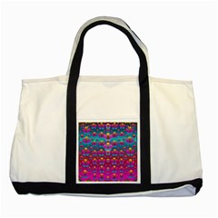 Freedom Peace Flowers Raining In Rainbows Two Tone Tote Bag