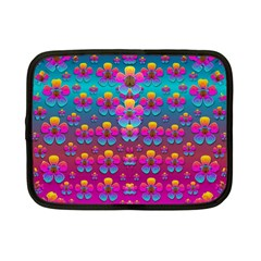 Freedom Peace Flowers Raining In Rainbows Netbook Case (Small)