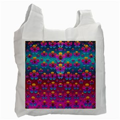 Freedom Peace Flowers Raining In Rainbows Recycle Bag (One Side)