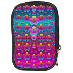 Freedom Peace Flowers Raining In Rainbows Compact Camera Cases