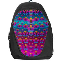 Freedom Peace Flowers Raining In Rainbows Backpack Bag