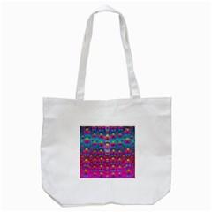 Freedom Peace Flowers Raining In Rainbows Tote Bag (White)