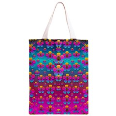 Freedom Peace Flowers Raining In Rainbows Classic Light Tote Bag