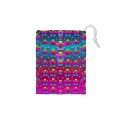 Freedom Peace Flowers Raining In Rainbows Drawstring Pouches (xs)