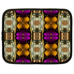 Contemplative Floral And Pearls  Netbook Case (XL)