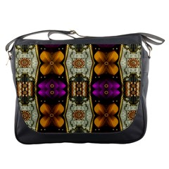 Contemplative Floral And Pearls  Messenger Bags