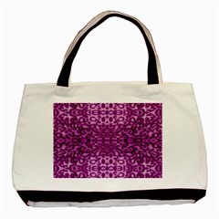 Lion In Purple Basic Tote Bag (two Sides)