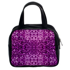 Lion In Purple Classic Handbags (2 Sides)