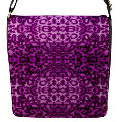 Lion In Purple Flap Messenger Bag (s)