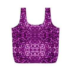 Lion In Purple Full Print Recycle Bags (m)