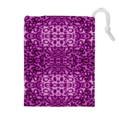 Lion In Purple Drawstring Pouches (Extra Large)