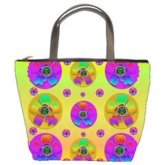 Floral Love And Why Not In Neon Bucket Bags