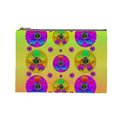 Floral Love And Why Not In Neon Cosmetic Bag (Large)