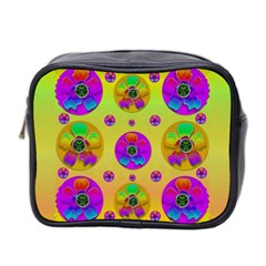 Floral Love And Why Not In Neon Mini Toiletries Bag 2 Side