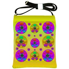 Floral Love And Why Not In Neon Shoulder Sling Bags