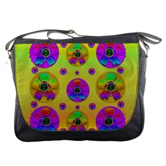 Floral Love And Why Not In Neon Messenger Bags