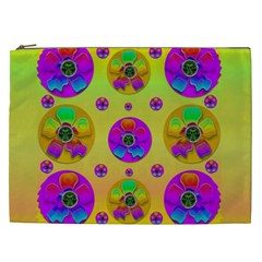 Floral Love And Why Not In Neon Cosmetic Bag (XXL)