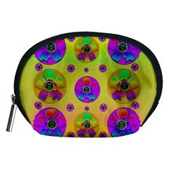 Floral Love And Why Not In Neon Accessory Pouches (medium)