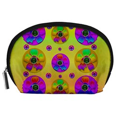 Floral Love And Why Not In Neon Accessory Pouches (Large)