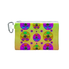 Floral Love And Why Not In Neon Canvas Cosmetic Bag (S)