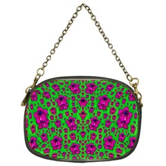 Fantasy Valentine In Floral Love And Peace Time Chain Purses (one Side)