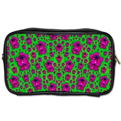 Fantasy Valentine In Floral Love And Peace Time Toiletries Bags