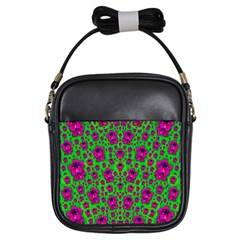 Fantasy Valentine In Floral Love And Peace Time Girls Sling Bags