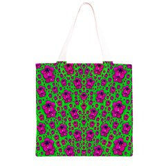 Fantasy Valentine In Floral Love And Peace Time Grocery Light Tote Bag