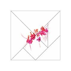 Minimal Floral Print Acrylic Tangram Puzzle (4  x 4 )