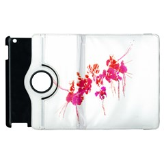Minimal Floral Print Apple iPad 3/4 Flip 360 Case