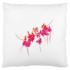 Minimal Floral Print Standard Flano Cushion Case (Two Sides)