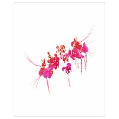 Minimal Floral Print Drawstring Bag (Small)