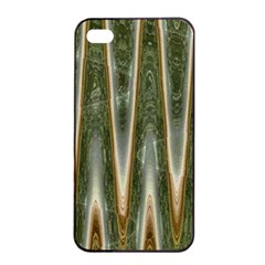 Green Brown Zigzag Apple iPhone 4/4s Seamless Case (Black)