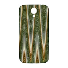Green Brown Zigzag Samsung Galaxy S4 I9500/I9505  Hardshell Back Case