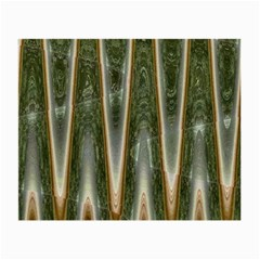 Green Brown Zigzag Small Glasses Cloth (2 Side)