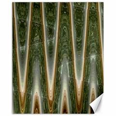 Green Brown Zigzag Canvas 16  x 20
