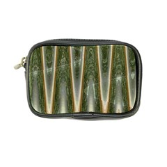 Green Brown Zigzag Coin Purse