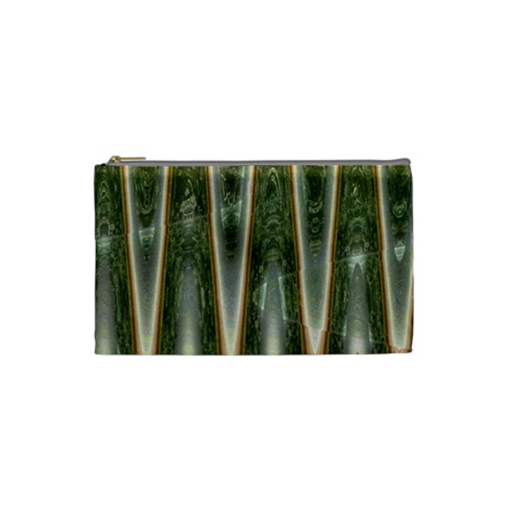 Green Brown Zigzag Cosmetic Bag (Small)