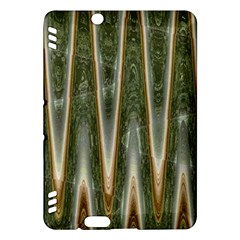 Green Brown Zigzag Kindle Fire HDX Hardshell Case