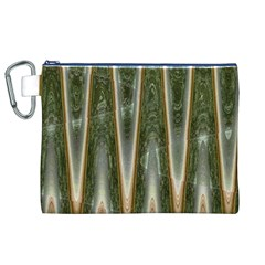 Green Brown Zigzag Canvas Cosmetic Bag (XL)