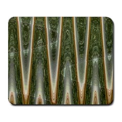 Green Brown Zigzag Large Mousepads