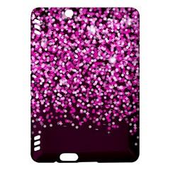Pink Glitter Rain Kindle Fire HDX Hardshell Case