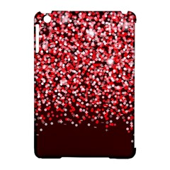 Red Glitter Rain Apple iPad Mini Hardshell Case (Compatible with Smart Cover)