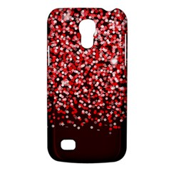 Red Glitter Rain Galaxy S4 Mini